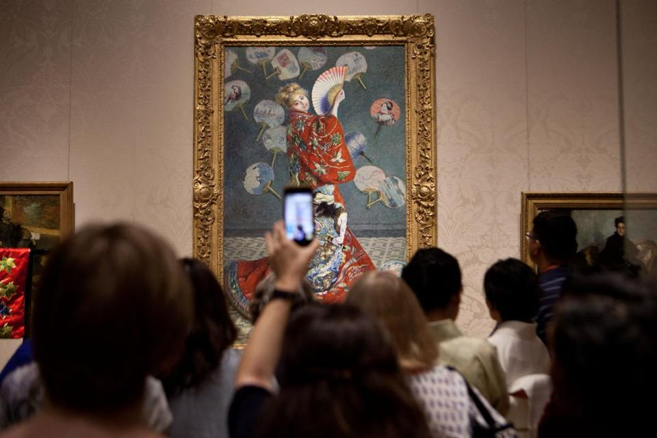 "Claude Monet's ""La Japonaise"" at the MFA."